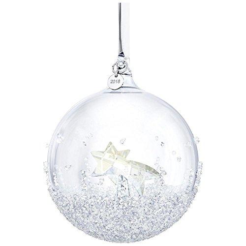 Swarovski Christmas Ball Ornament, A. E. 2018, Frosted Crystal
