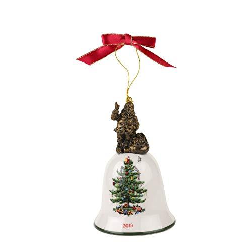 Spode Christmas Tree Annual Edition Ornament, Santa on Bell-2018
