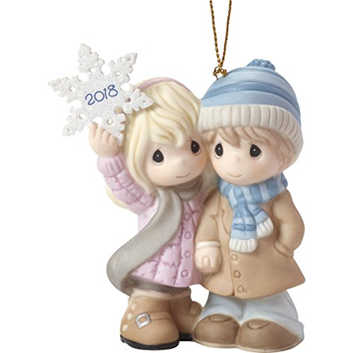 """Precious Moments""""Our First Christmas Together 2018″ Couple Ornament, Multicolor"""