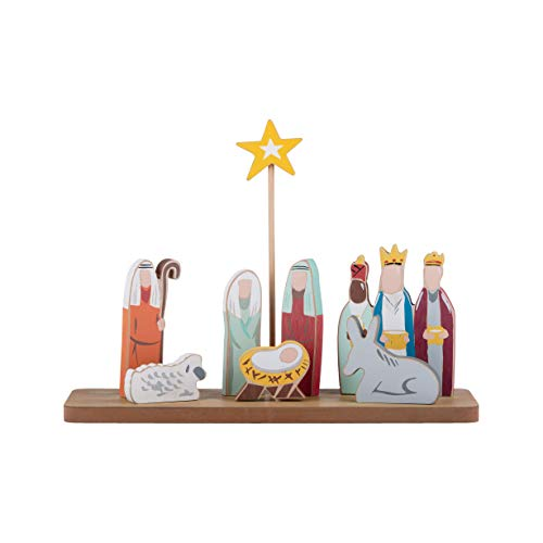 Glory Haus Oh Holy Night Nativity Stand Holiday Display, Multi-Colored