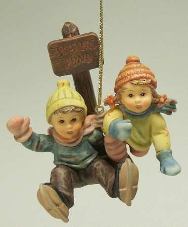 "Hummel Ashton Drake Galleries ornament – ""Skater's Pond"""