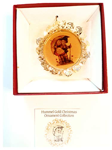 Hummel Gold Christmas Ornament, Sunny Weather
