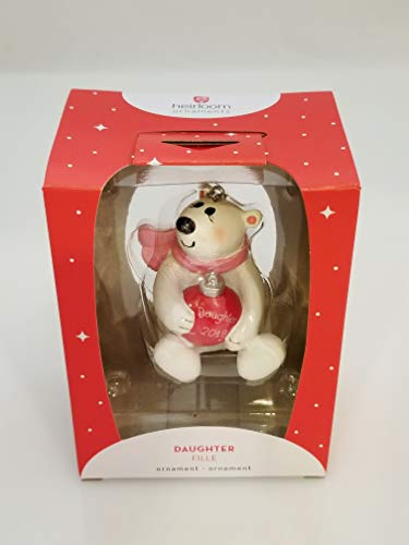 Carlton Heirloom Ornament 2018 Daughter – Polar Bear in Scarf – #CXOR018O