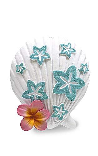 Island Heritage Plumeria Seashell Hawaiian Hand-Painted Polyresin Christmas Ornament