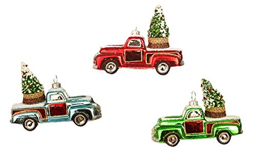 One Hundred 80 Degrees Vintage Pick-Up Truck Ornaments Set of Three
