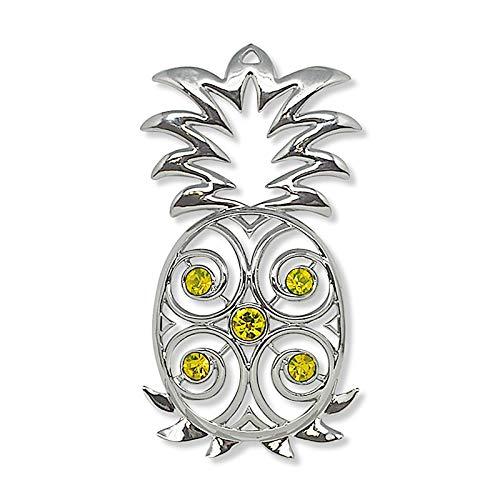 Island Heritage Jewel Metal Hawaiian Christmas Ornament – Pineapple