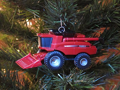 Custom Case IH Combine Harvester Christmas Tree Ornament
