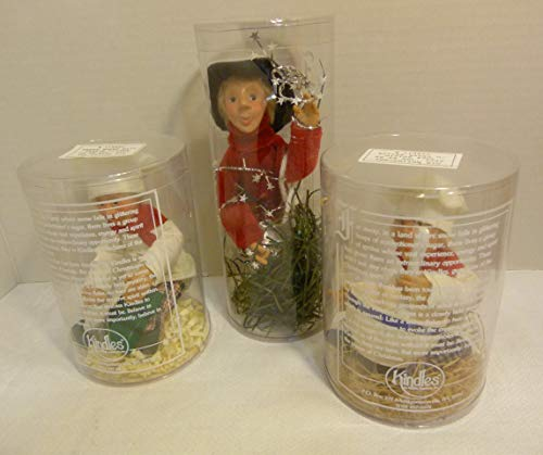 Byers' Choice Kindles Ornaments Set of Three Figurines: Glitz, Batter Baker and Press Baker