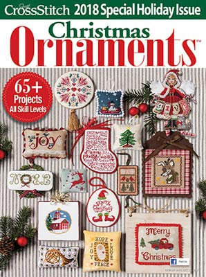 Just Cross Stitch Christmas Ornaments 2018 Magazine and Free Christmas Embellishment