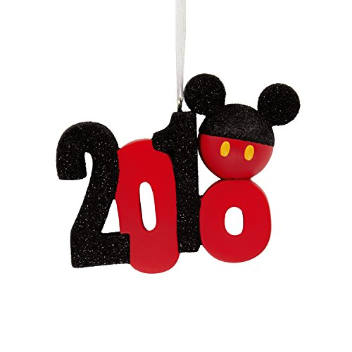 Hallmark Christmas Ornament 2018 Year Dated, Disney Mickey Mouse Icon, Stacked