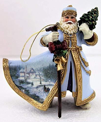 Thomas Kinkade Moonlight Sleigh Ride Old World Santa Ornament