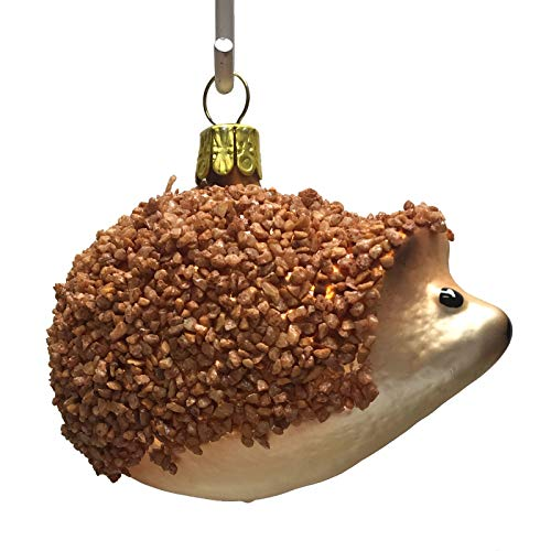 Pinnacle Peak Trading Company Hedgehog Czech Glass Christmas Tree Ornament Animal Wildlife Decoration