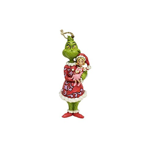 Enesco Grinch by Jim Shore Grinch Holding Cindy Ornament