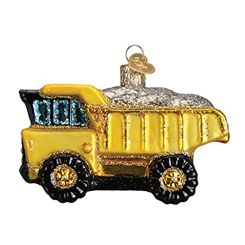 Old World Christmas Glass Blown Ornament Toy Dump Truck