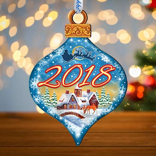 2018 Christmas Tree Ornament, New Year Decorative Holiday Ornament by G DeBrekht #8112182-18