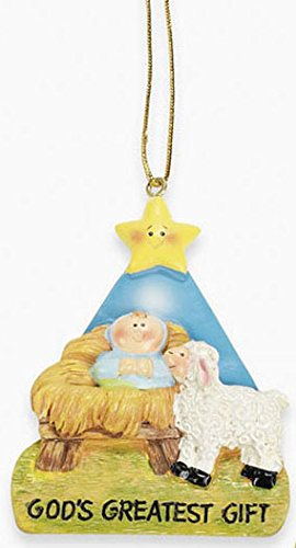 BABY JESUS – GOD'S Greatest GIFT CHRISTMAS ORNAMENT/HOLIDAY TREE Decoration/GIFT