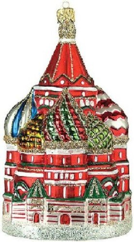 Pinnacle Peak Trading Company Saint Basils Cathedral Polish Glass Christmas Ornament Red Square Moscow Russia