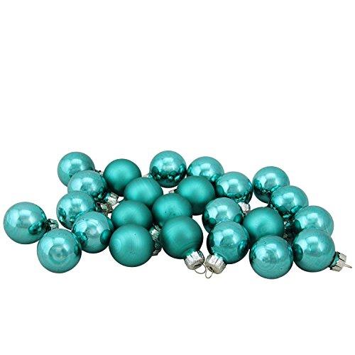 Northlight WY00713 Teal Green Glass Ball Christmas Ornament Set, 1″