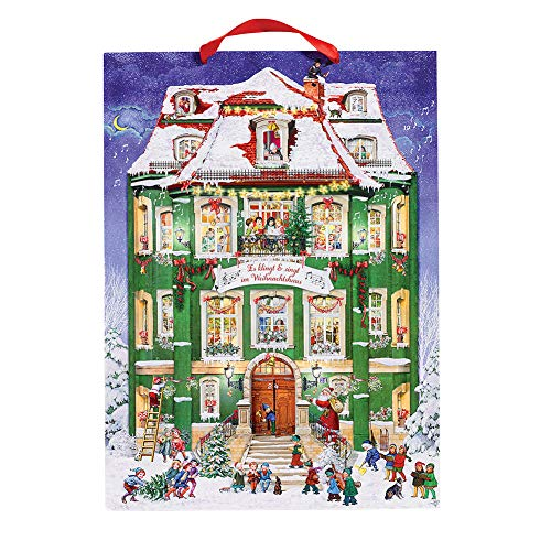 Alison Gardiner Designs Hanging Musical Advent Calendar with 24 Christmas Carols
