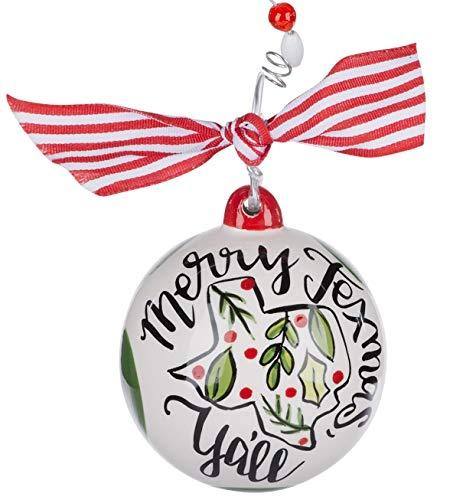 Glory Haus Merry Texmas Y'all – Ceramic Ball Christmas Ornament