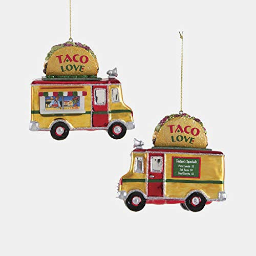 One Hundred 80 Degrees Glass Ornament (Tacos Truck)