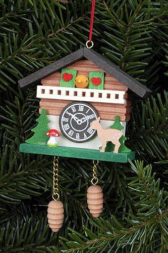 Tree Ornament Cuckoo Clock with Bambi – 6,9 x 5,7cm / 2.7 x 2.2inch – Christian Ulbricht