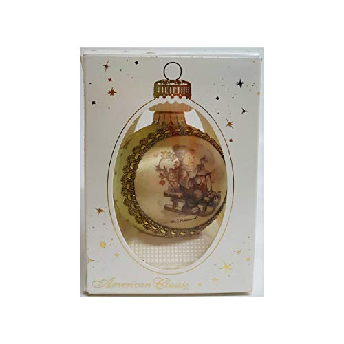 Christmas by Krebs M. J. Hummel Glass Collectibles Winter Fun H316 Silk Picture Ornament 2002