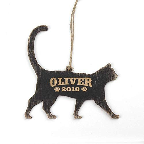 Personalized Cat Ornament, Cat Gift