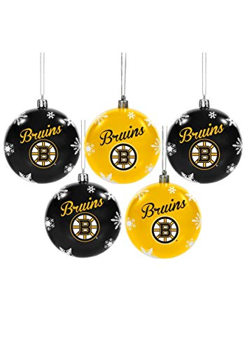 Forever Collectibles Boston Bruins 5 Pack Shatterproof Ball Ornament Set Standard