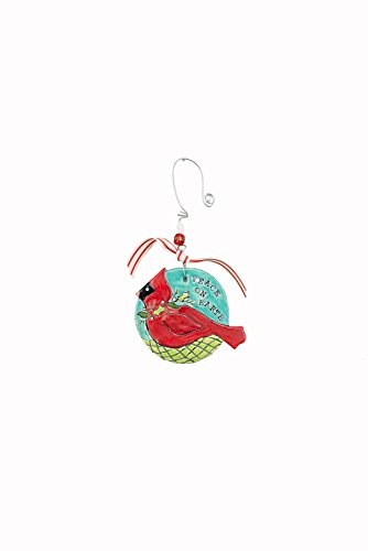 Glory Haus Peace On Earth Cardinal Flat Ornament, Multicolor