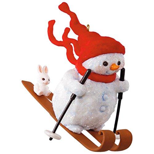 Hallmark Keepsake 2017 Mary Hamilton's Skiing Snowman on the Slopes Christmas Ornament