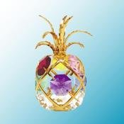 24K Gold Plated Pineapple Free Standing – Multicolored – Swarovski Crystal