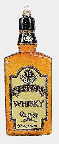 Pinnacle Peak Trading Company Bottle of Premium Scotch Whiskey Polish Glass Christmas Ornament Decoration