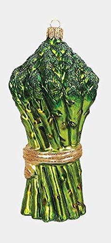 Pinnacle Peak Trading Company Bunch of Asparagus Polish Glass Christmas Ornament Vegetable Food Decoration