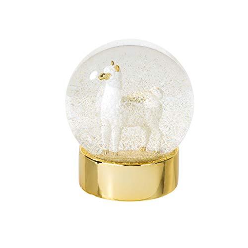 Llama Gifts Snow Globe with Llama Stuffed Animal Inside Snow Globes Alternative to Unicorn Gifts