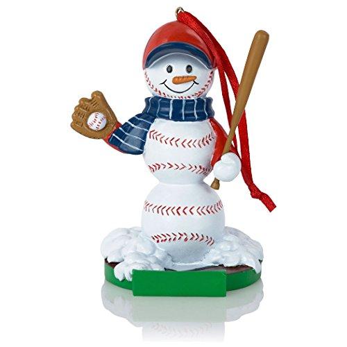 Baseball Snowman Resin Christmas Ornament | Baseball Ornaments by ChalkTalk Sports