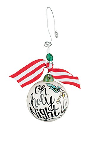 Glory Haus 20100102 Oh Holy Night Ball Ornament, 4″ x 4″, Multicolor