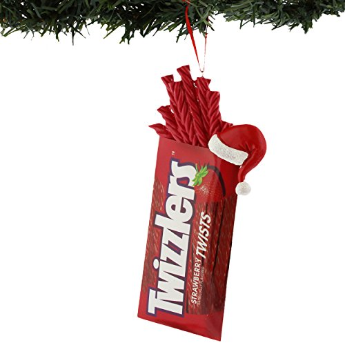 Hershey's Kisses Reese's Twizzlers Kurt Adler Ornament Gift Boxed (Red)