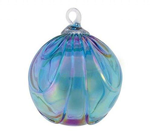 Glass Eye Studios Blue Topaz Drape Ornament