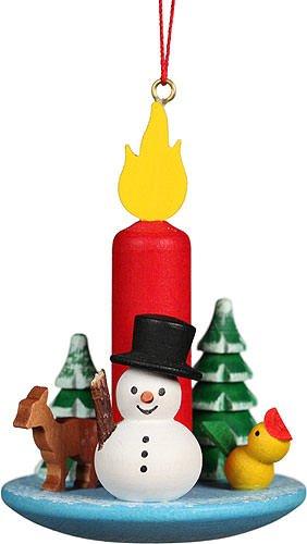 Christian Ulbricht Tree Ornament Candle Snowman – 5,4×7,4 cm / 2.2×2.9 inch