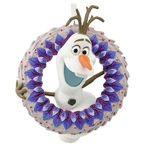 Hallmark Disney Olaf's Frozen Adventure Olaf with Wreath Ornament Movies & TV