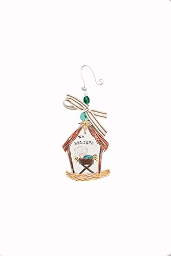 Glory Haus Believe Flat Ornament, Multicolor