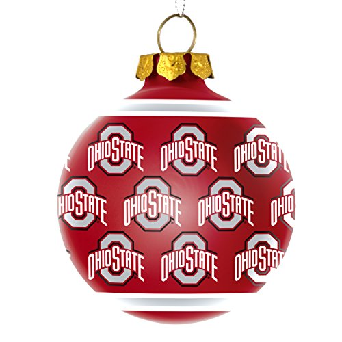 Ohio State Buckeyes Official NCAA Repeat Glass Ball Christmas Ornament by Forever Collectibles 269057