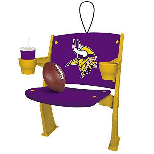 Team Sports America Stadium Chair Ornament, Minnesota Vikings, Set of 2