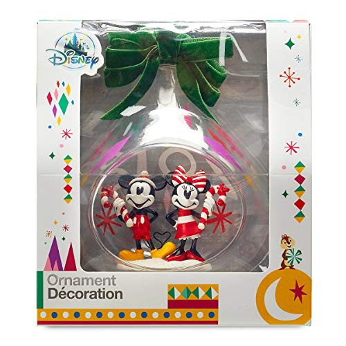 Disney's Mickey and Minnie Mouse Holiday Glass Drop Sketchbook Ornament — 2018 Edition