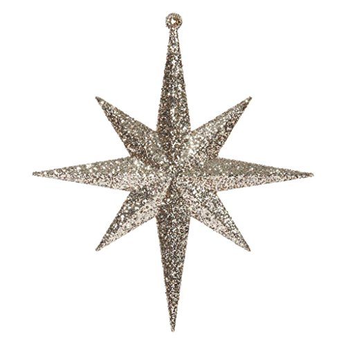 Vickerman 417782-8″ Rose Gold Glitter Bethlehem Star Christmas Tree Ornament (4 pack) (M167248)