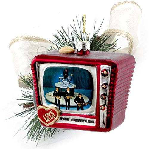 "Beatles Collectible: 2015 Kurt Adler""Love Me Do"" Retro Television Christmas Ornament"
