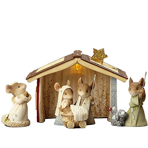 2018 Enesco Heart of Christmas Mice Nativity 5 Piece Set