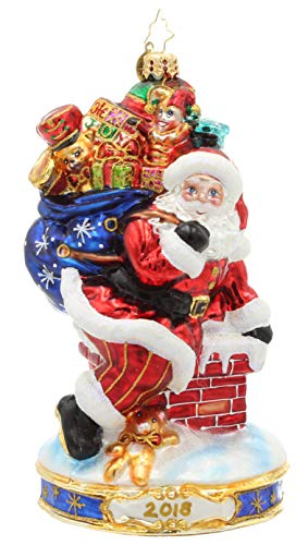 Christopher Radko Annual Collection Christmas Glass Ornament Limited Edition 2018 Dated Christmas Wishes Collectible Item #3013380-Only 72 Made for Exclusively for Us