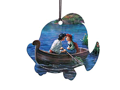 Trend Setters Disney – Little Mermaid – Thomas Kinkade – Flounder Fish Shaped Acrylic Hanging Decoration
